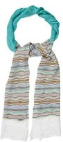 M Missoni Chevron Pattern Knit Scarf