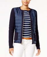Tommy Hilfiger Quilted Contrast Cardigan, Only at Macy's