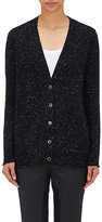 ATM Anthony Thomas Melillo Women's Donegal-Effect Cardigan-NAVY