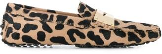 Tod's Animal Print Loafers