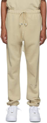 Essentials SSENSE Exclusive Beige Logo Lounge Pants