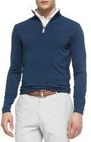 Peter Millar Perth Quarter-Zip Sweater, Navy