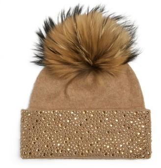 William Sharp Swarovski Crystal-Embellished Bobble Hat