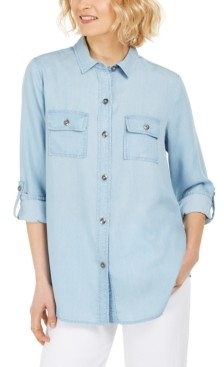 Charter Club Denim Utility Shirt, Created for Macy's