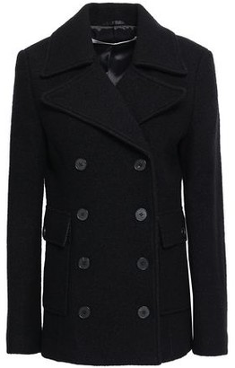 McQ Double-breasted Brushed Wool-felt Coat