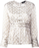 Isabel Marant patterned blouse - women - Silk - 34