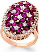 Macy's Ruby (4 ct. t.w.) and Diamond (1-3/4 ct. t.w.) Ring in 14k Rose Gold