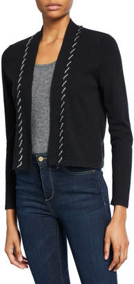 Neiman Marcus Cashmere Shrug with Chain Whipstitch Trim