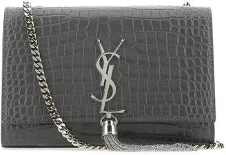 Saint Laurent Kate Small Tassel Embossed Shoulder Bag