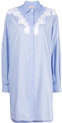 Ermanno Ermanno Stripe-Print Shirt Dress