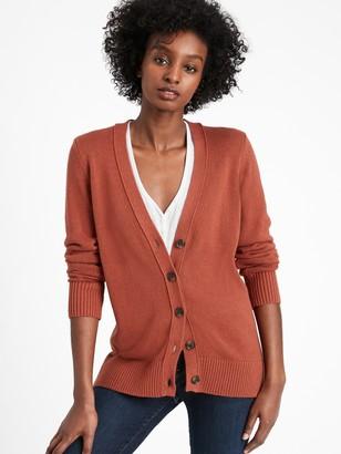 Banana Republic Cotton-Hemp Long Cardigan Sweater