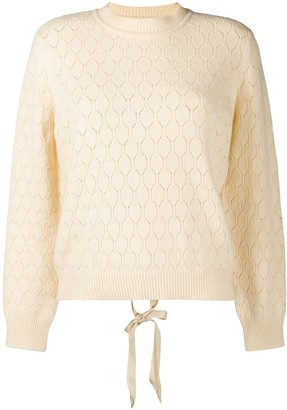 Moschino Tied Back Jumper