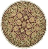 Safavieh Old World Collection Handmade Burgundy and Green Wool Round Area Rug