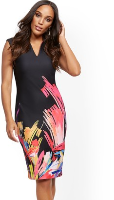 New York & Co. Graphic-Print Cap-Sleeve Sheath Dress