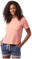 Alternative Heavy Wash Cropped Pocket Tee (Sunset Coral) Women's T Shirt