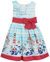 Rare Editions Set Sail Striped Dress, Baby Girls (0-24 months)