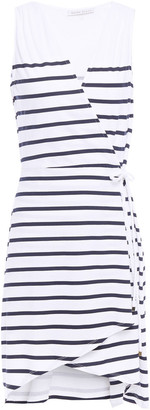 Heidi Klein Maine Striped Stretch-jersey Mini Wrap Dress