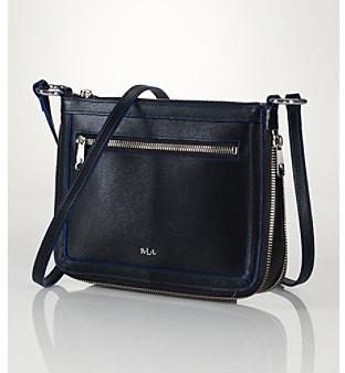 Lauren Ralph Lauren Tate Flat Leather Crossbody Bag