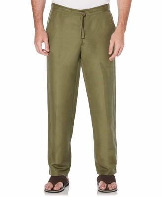 Cubavera Big & Tall Drawstring Linen Blend Pants