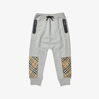 BURBERRY KIDS Hamilton Jogger (Little Kids/Big Kids) (Grey Melange) Boy's Clothing