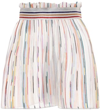 Missoni High Waist Sheer Knit Shorts
