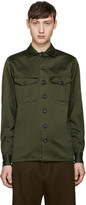 Loewe Green Canvas Army Shirt