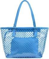 Micom Cute Neno Candy Color Polka Dot Clear Beach Tote Shoulder Handbag