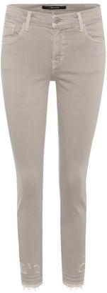 J Brand Capri Mid-Rise skinny jeans