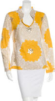 Tory Burch Floral Pattern Top