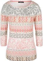 Olsen Mixed print cotton T-shirt