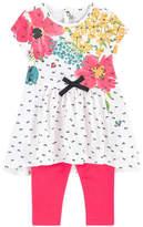 Catimini Graphic dress and leggings