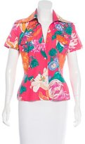 Dolce & Gabbana Button-Up Floral Print Top