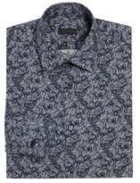 Z Zegna Slim-Fit Forest Paint Dress Shirt