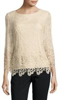 Alex Evenings Solid Lace Top
