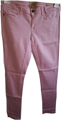 GUESS Pink Cotton - elasthane Jeans for Women