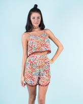 Missy Empire Danica Red Paisley Print Crop Top And Short