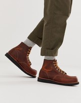 Red Wing Shoes classic 6 inch moc boots in coppoer rough leather