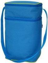 J L Childress 6 Bottle Cooler Tote Bag, Blue/Green by