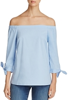 Cupio Off-The-Shoulder Tie-Sleeve Blouse