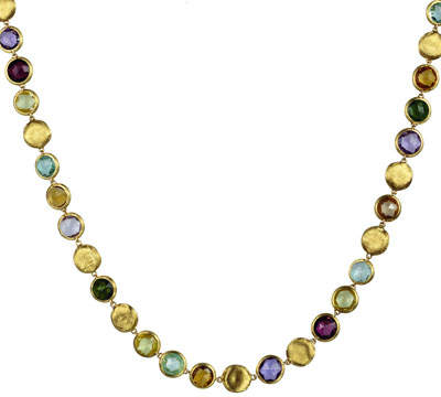 """Marco Bicego Jaipur Mixed-Stone Link Necklace, 19""""L"""