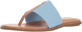 Taryn Rose Women's Kamryn Vachetta Flat Sandal Sky 5 M M US