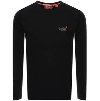 Superdry Vintage Long Sleeved T Shirt Black