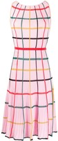 Missoni grid-pattern pleated dress