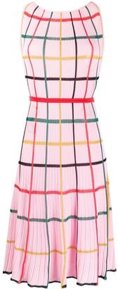 Missoni Grid-Pattern Pleated Dress