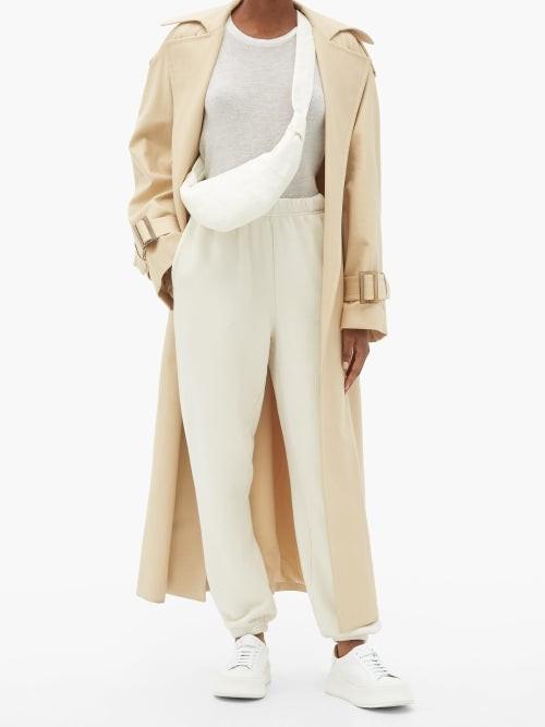 Thumbnail for your product : FRANCES DE LOURDES Marlon Round-neck Cashmere And Silk-blend T-shirt - Ivory