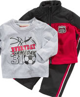 Kids Headquarters Baby Set, Baby Boys 3 Piece Track Suit Set