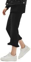 Topshop Women's Waffle Crop Mermaid Trousers
