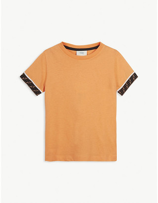 Fendi FF cuff cotton T-shirt 4-14 years