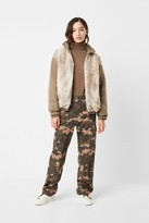 French Connenction Farin Reversible Faux Fur Bomber Jacket