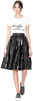 Alice + Olivia Misty Patent Leather Skirt